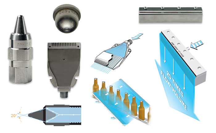 Air Knife Blow Off Systems : Air blowing nozzles pnr