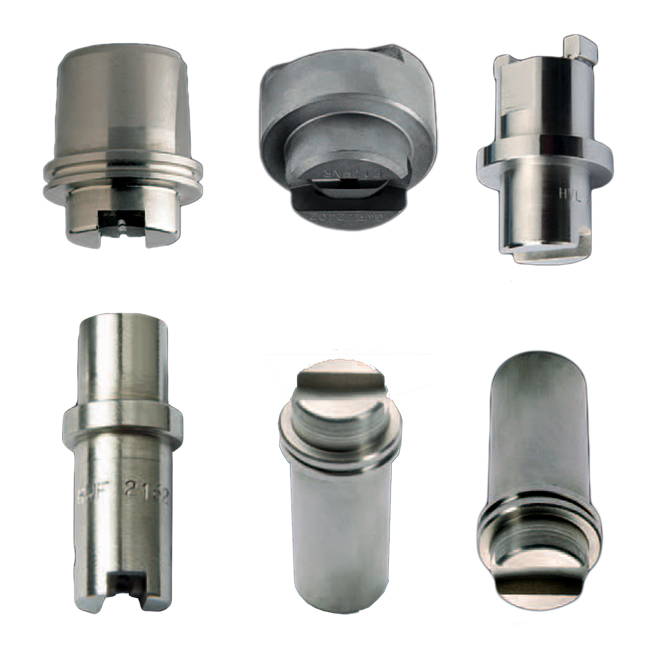 PNR descaling spray nozzle tips for the steel production industry.