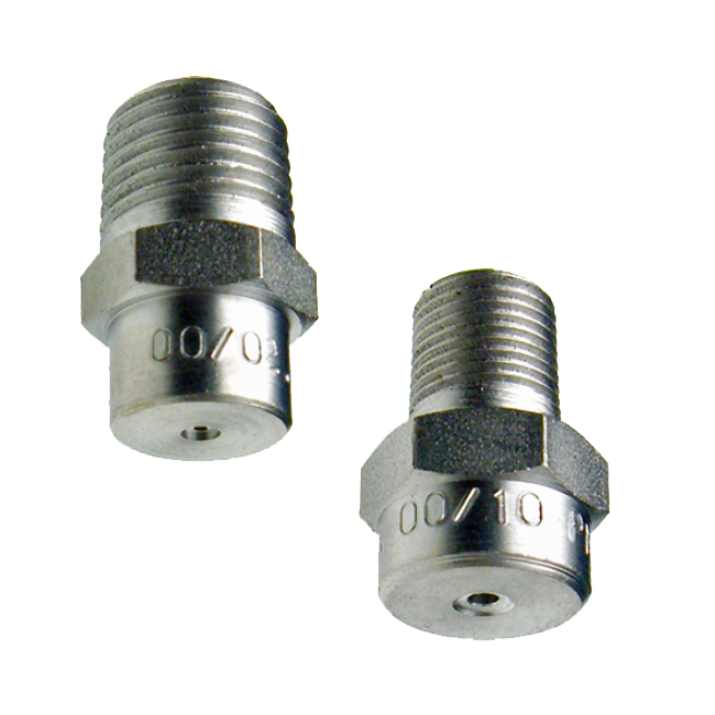 FAA & FBA straight jet spray nozzles. Also referred to as pencil jets. Paper mill nozzles, paper mill production.