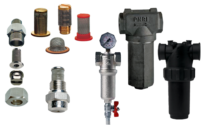 PNR in-line and small spray nozzle filters. VEH, VEM, VEL, VEC, VEA, VED codes.