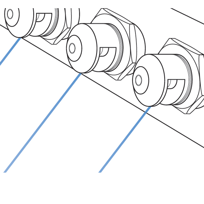 GF straight jet nozzle spray pattern and configuration - drawing.
