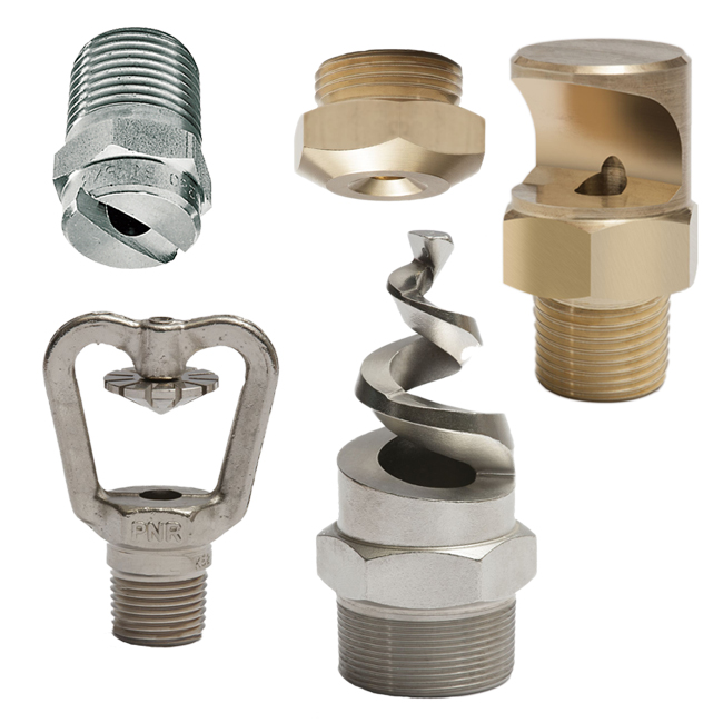 PNR Spray Nozzle range for industrial, general purpose, steel works, dust suppression and more.