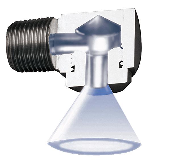 PNR hollow cone tangential nozzle
