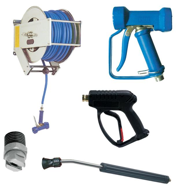 PNR wash guns, high pressure guns, spray lances, hose reels and nozzles.
