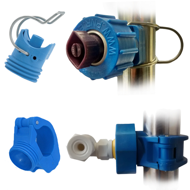 Nozzle holders, pipe clamps and eylets. Spring clip, quick release and fixed. PNR ZPQ, ZPL ZPN clamps.