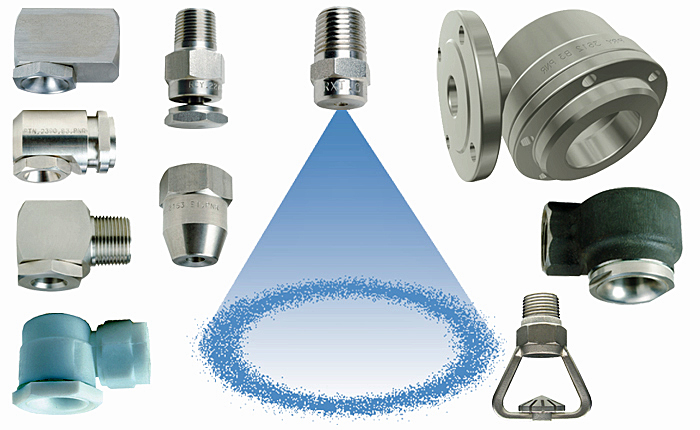 PNR hollow cone spray nozzle range