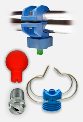 PNR pre-treatment surface finishing spray nozzles and pipe clamps. Swivel nozzles, eyelet clamps, eductors, flat fan nozzles and more.
