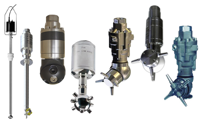 PNR offer a selection of motor driven, rotary CIP tank cleaning heads.