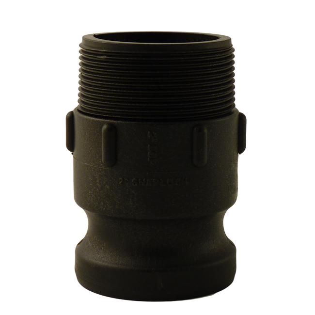 Quick coupler adaptor or adapter male thread connection. Polypropylene pre-treatment items from PNR UK Ltd