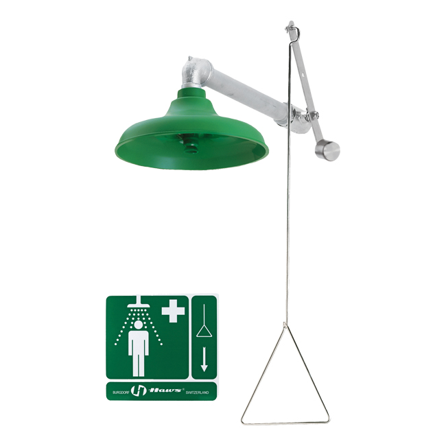 8122H Axion / Haws emergency or drench shower, horizontal fitting. PNR UK Ltd