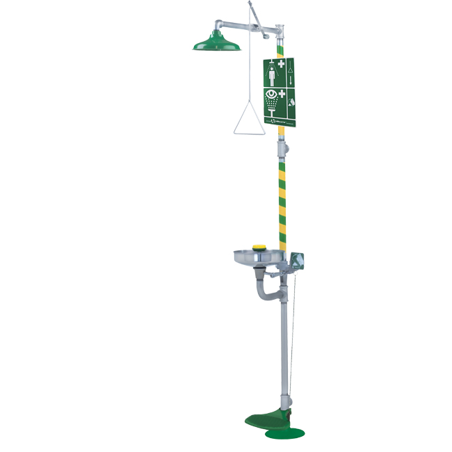 8300 Axion / HAWS combination safety shower and eye / face wash emergency safety shower or drench shower. Free standing unit. PNR UK Ltd