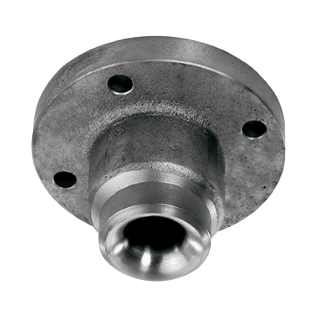 PNR AEU and AEW full cone, slotted vane flange fitting spray nozzle.Large capacity (large water volume) at low pressures.