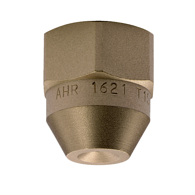 PNR AHR & AHT in-line full cone spray nozzle. Continuous casting in the steel industry as well as dust suppression.
