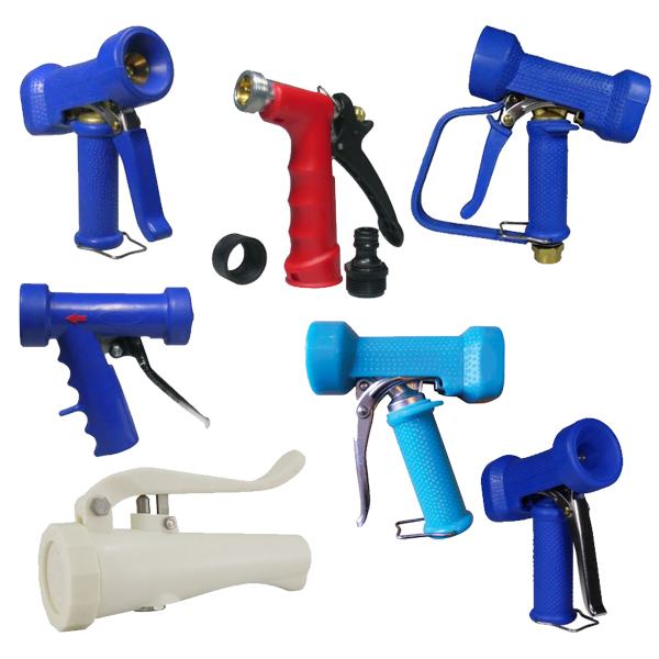 Wash guns and water spray guns for cleaning, wash-down applications across all industries from food, beverage and breweries to industrial manufacturing and more.