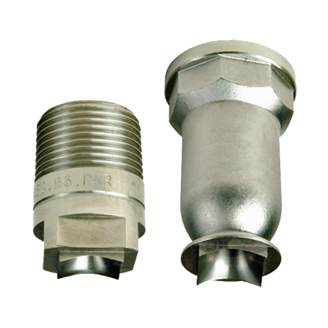 PNR BHQ / BHW / BFS / BFW square pattern full cone spray nozzles.