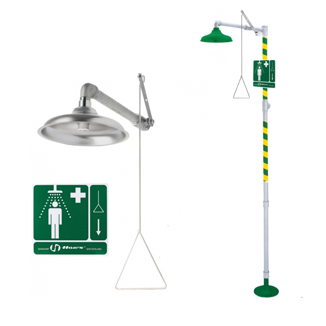 Emergency drench showers / safety showers from PNR UK Ltd
