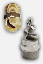 PNR general purpose industrial spray nozzles. Hollow cone / full cone / flat fan jet / pencil jet or straight jet and high pressure cleaning nozzles.