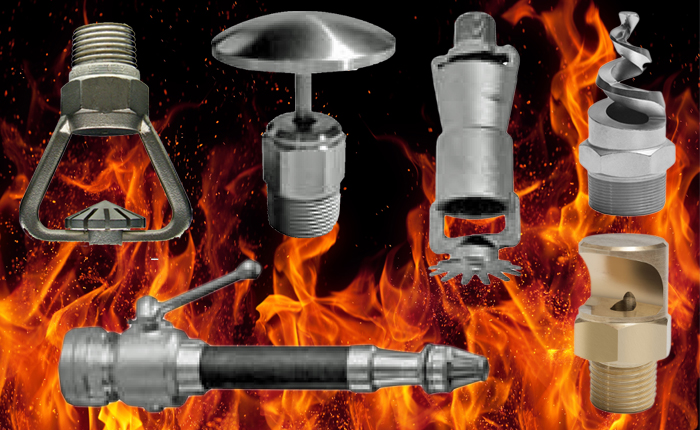PNR fire fighting spray nozzles & fire fighting products.