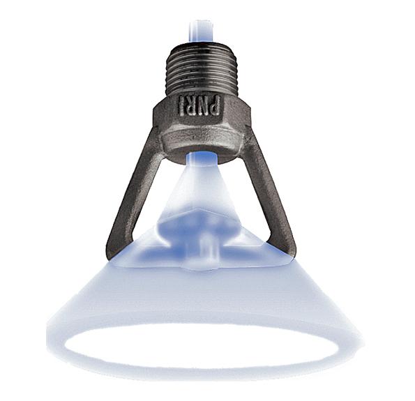 Hollow cone spray nozzles - impact design. PNR spray nozzles