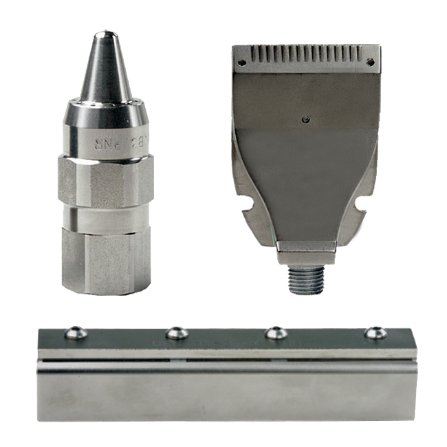 UEA 7 UEB compressed air blowing nozzles, air bars and air knife nozzles for the steel industry.