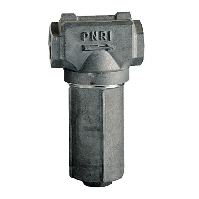 VEM in-line aluminium filter with 60 mesh or 80 mesh. 20 bar pressure.
