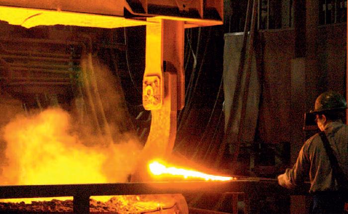 Steel works spray nozzles. PNR.
