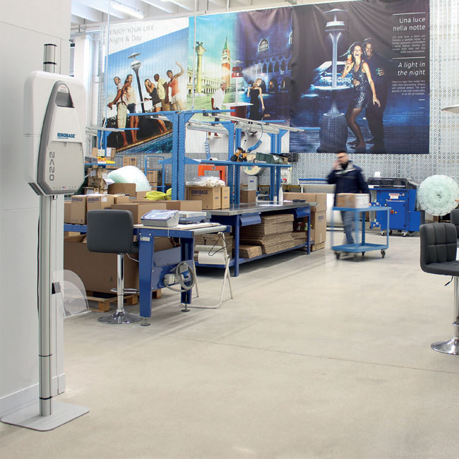 Air purifying machines for large warehouse areas, offices and other work spaces.