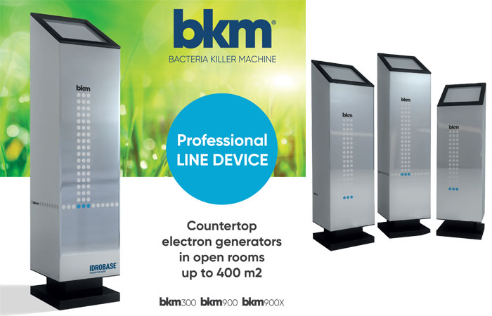 Bacteria Killer Machine, counter-top virus and bacteria and odour eliminator to purify air in open rooms.