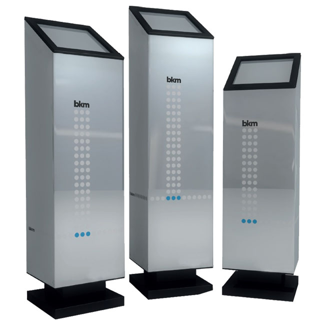 Surface mounted and counter top air purification devices for getting rid of odours and smells, and airborne bacteria and viruses