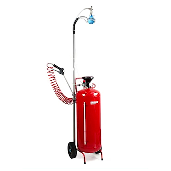 Fogging nebuilizer on telescopic pole combined with spray lance and nozzles for industrial cleaning and disinfecting. School cleaning, workplace, public places, restaurants and more.